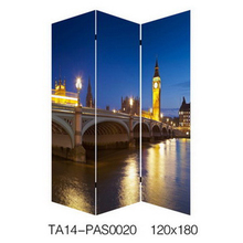 fashion style city view hospital folding soundproof LED room divider