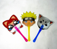 Japanese cartoon shape pp mini hand fan