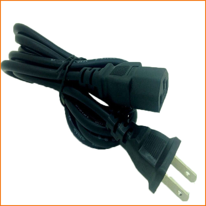 wholesale universal 2 flat pin ac power cord plug cables