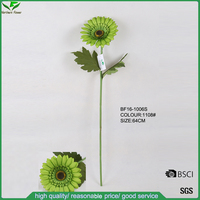 High Quality Single Fabric Artificial Chrysanthumum Flowers, Fake African Daisy Flowers Stem,Single Artificial Gerbera