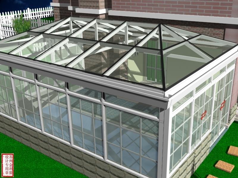 Aluminium Prefabricated Glass Conservatory Green House