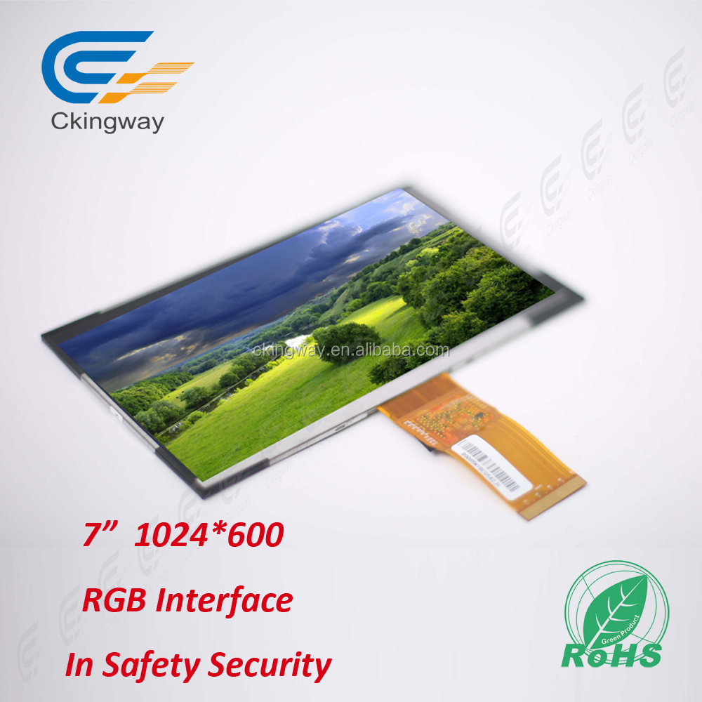 "Ckingway high quality 7"" industrial flat panel monitors 600(RGB)*1024 high resolution LCD Monitors"