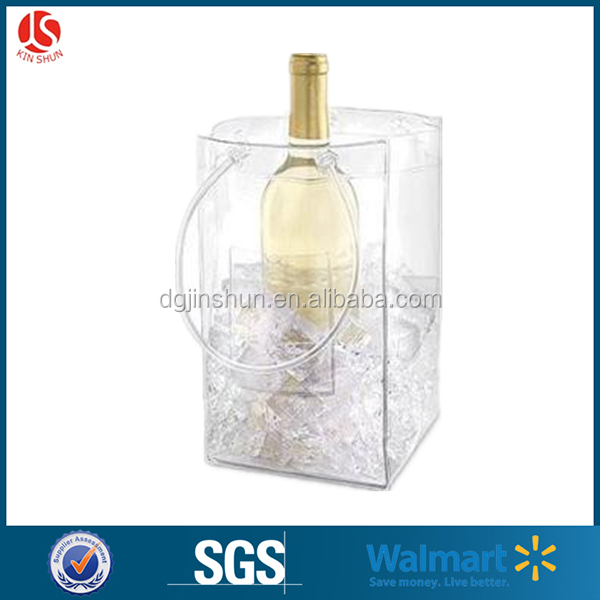 Wine Chiller and Ice Bucket, Ice Bag Carrier with Handles for White Wine, Champagne, Cold Beer and Chilled Beverages