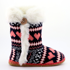 Women Comfort Warm Fluffy Faux Fur Slipper Boots Soft Memorsuede sole crochet comfort warm indoor new models women slipper boots