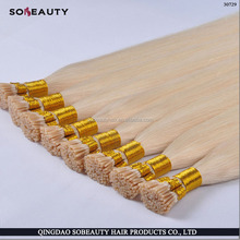 Brazilian Keratin i tip/stick tip curly hair extension 0.5g/strand 50g/pack Hair 10-30 inch in stock