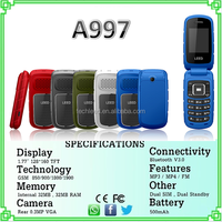 alibaba express High quality A997 mobile devices dual sim flip device phone