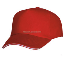 100% cotton twill custom sandwich 5 panel short brim baseball cap
