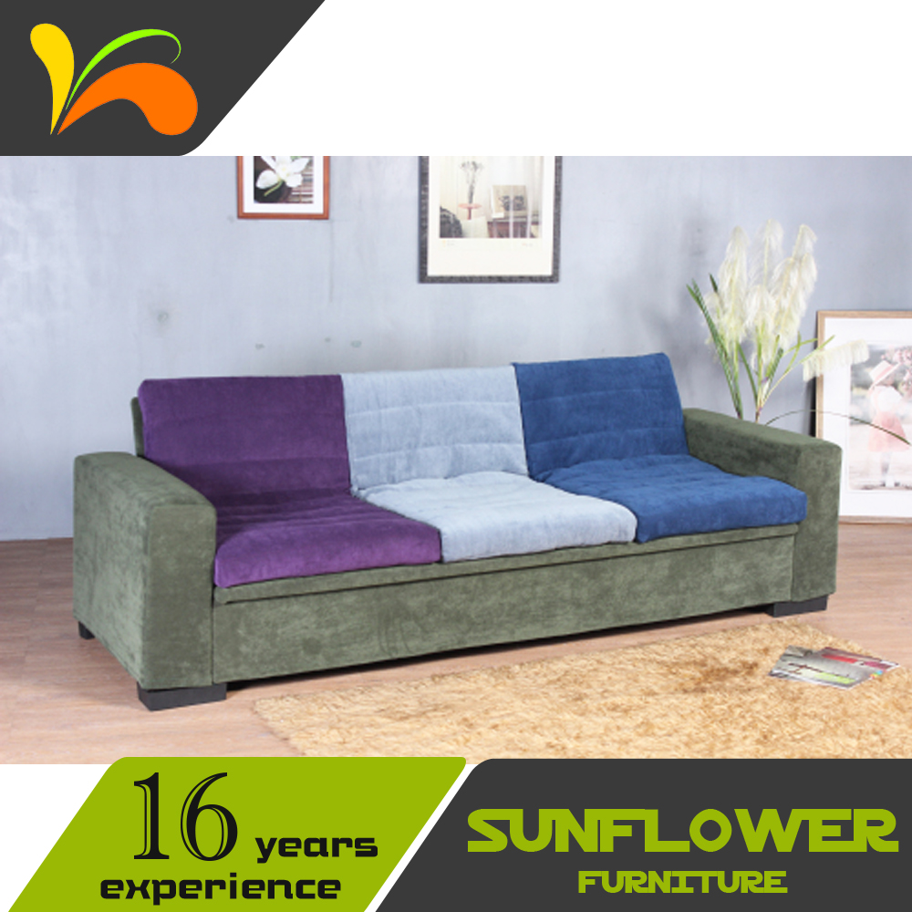 High quality sofa furniture with good price fabric color for Good quality divan beds