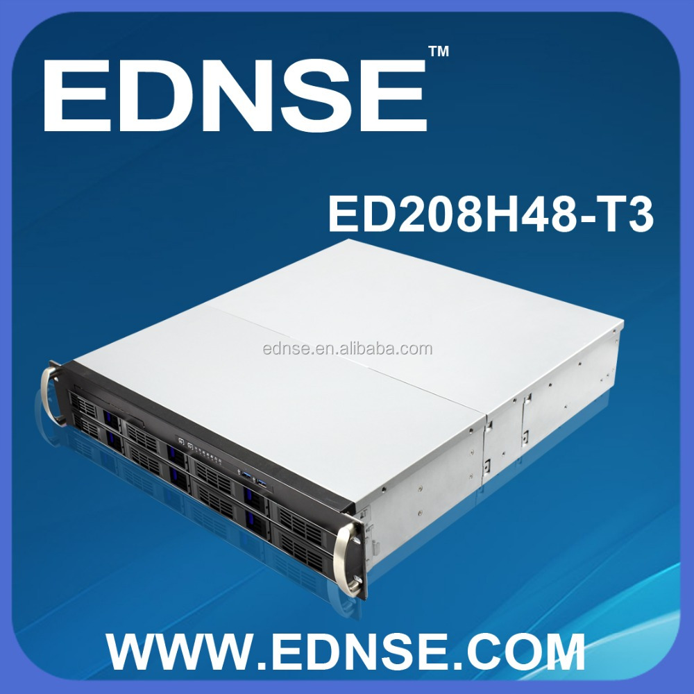 ED208H48-T3-D 8 Bay Hot Swap 2U NAS Server Case