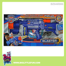 Battery operated soft bullet shooting gun toy with glasses