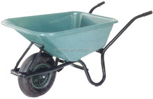 Large capacity 160kg & 72L Galvanized tray Heavy Duty Wheelbarrow WB6414T