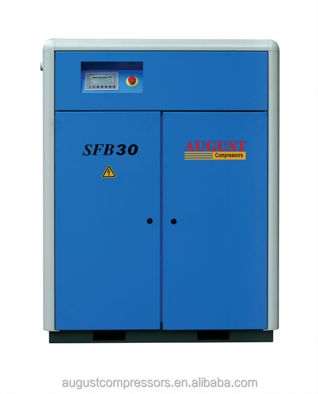 SFB30C 30KW/40HP 13 bar AUGUST stationary air cooled screw air compressor specification