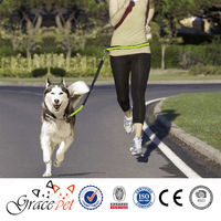 Reflective hands free dog leash,running dog leash