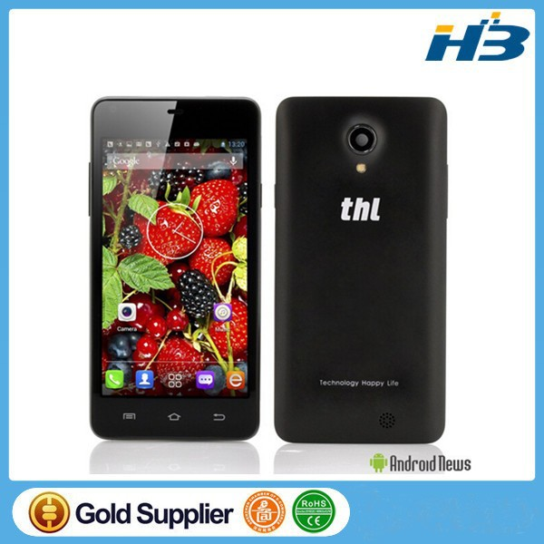 Touch Screen Cell Phone THL T5S MTK6582 Quad Core 1.3GHz 4.7 Inch Screen unlocked cute phone