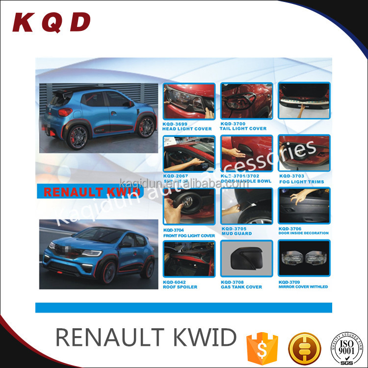 Brand new Full set chrome auto renault kwid accessories for car renault kwid