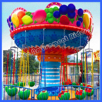 Kiddie Attraction themes park rides flying chair dancing in the sky equipment sale