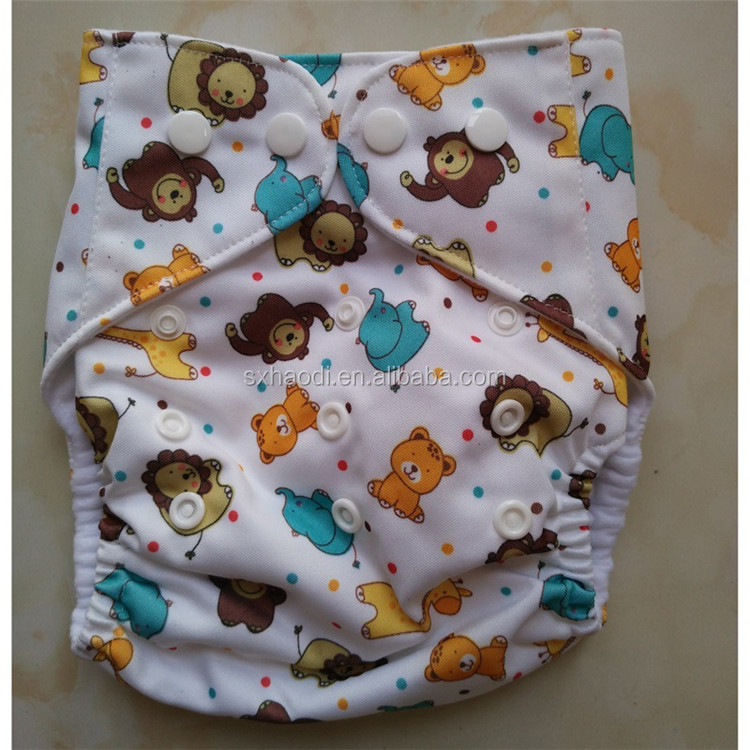 Waterproof Baby Sleep Diaper With All In One Size,Double Gusset Baby Diapers , Pringting Nappy