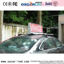 electronic fence taxi roof signs for sale Oscarled waterproof full color with CE certificate led taxi top light