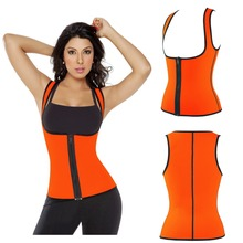 China supplier Ultra Sweat Zipper Vest Neoprene Slimming Corsets clothes