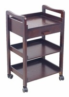 Wooden Beauty Trolley With Three Shelf For Beauty Salon Equipment