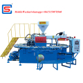 Automatic single color PVC Shoes footwear slipper soles Air Blowing Injection Moulding Machine