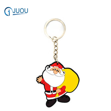 Best Christmas Gifts Santa Claus Keyring Rubber Key rings