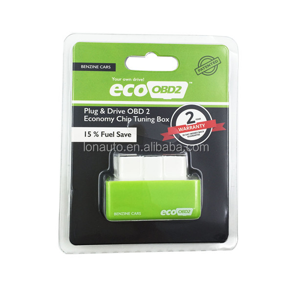 Plug and Drive EcoOBD2 Economy Chip Tuning Box for Benzine