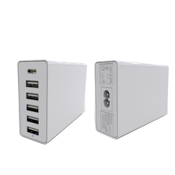 60W USB ports charger for charge all digital products