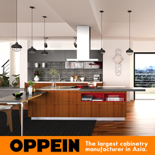 OPPEIN Brown PVC Lacquer Kitchen Cabinet Door