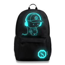 Fashion Luminous Backpack with USB Charging Port and Lock, fashion Glow In The Dark Backpack Laptop Bag Shoulder Day pack