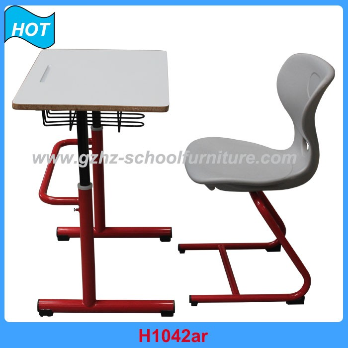 student desk and chair single adjustable table and chair round tube
