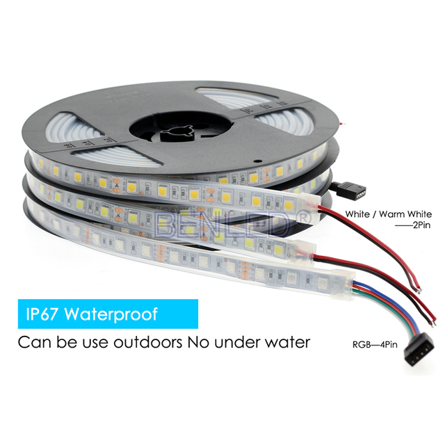 Eatable Waxed 300 LED Strip 5050 RGB Waterproof + Ir Remote 44 Key Controller + 12V Eu Power Supply For Restaurant Lighting