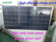 300w poly solar panel with A grade solae cell