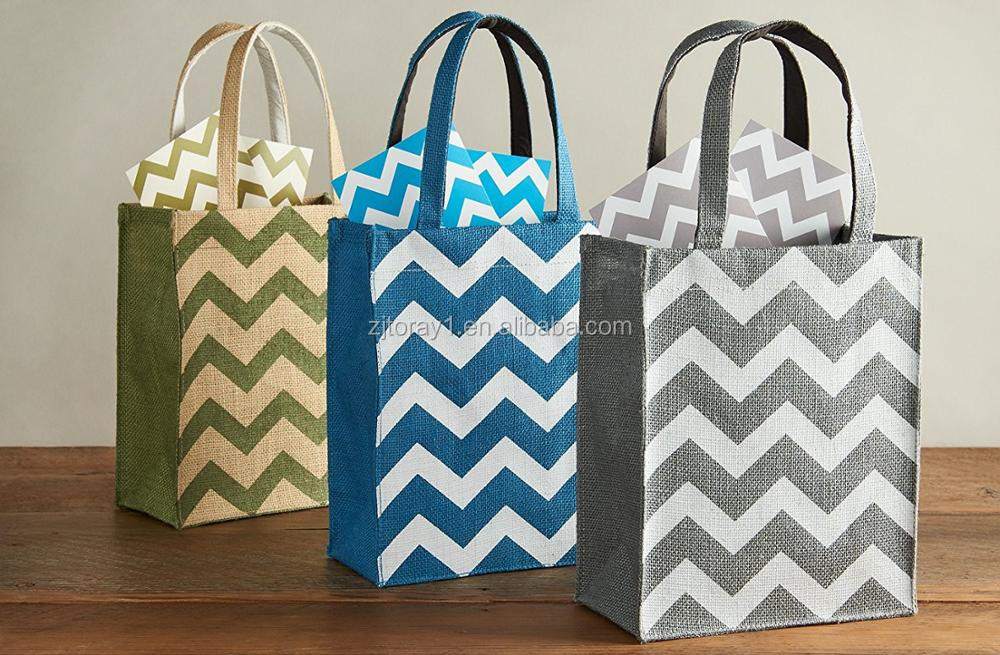 Reusable Jute Gift Bags with Handles Eco Friendly Fabric Bag
