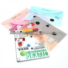 A4 PP envelope file bags/fashion transparent clear Plastic document holder