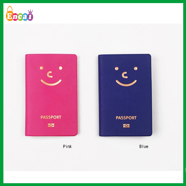Encai New Design Travel Organizer Passport Cover/Colourful Passport Bags/Smile Logo Tickets&Cards Holder