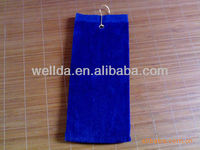 100% cotton personalized golf towel
