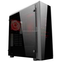 LCD Display Entry Level ATX Desktop PC Gaming Case With Tempered Glass Side Panel