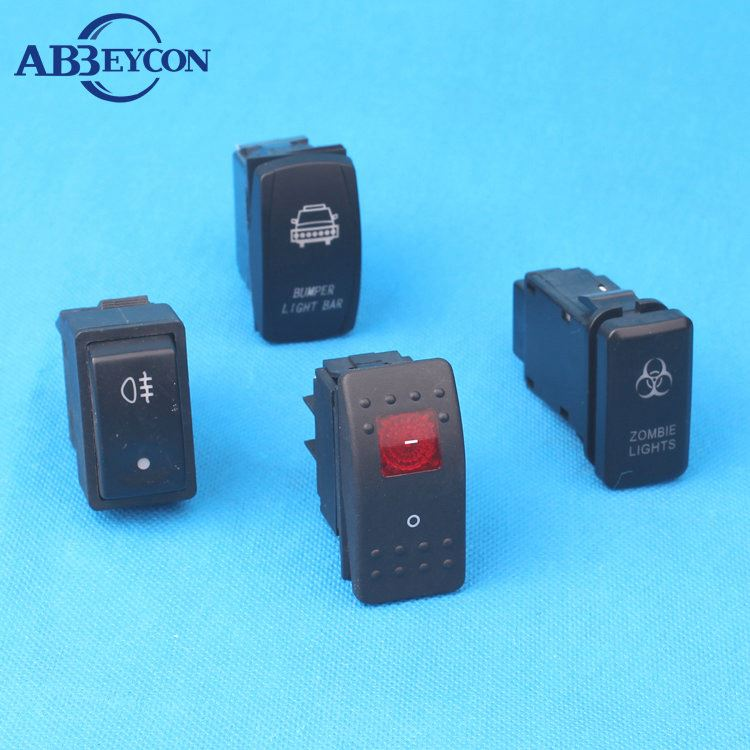 boat rocker switch/Carling Style/electric led light/12V 24V Marine rocker switch with hid poos