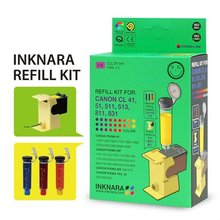 INKNARA Refill Kit [NEW 2012] Compatible for CANON CL 41 51 831 COLOR INK