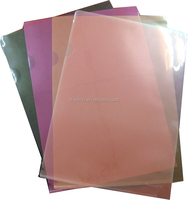 A4 size clear PP plastic file folders with sliding bar