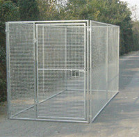 Outdoor temporary portable metal fencing for big dog