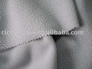 100%polyester cheap polar fleece one side burshed and one side anti pilling polar fleece fabric