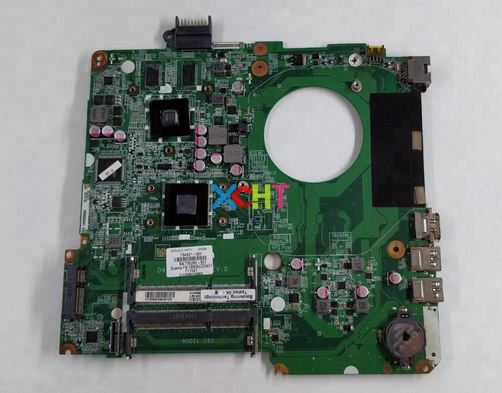 for HP 15-N Series 15Z-<strong>N100</strong> 15Z-N200 734821-001 734821-501 734821-601 HD8670M/1G A6-5200 DA0U93MB6D0 Motherboard Tested