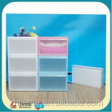 Folding easy to transport plastic children drawer