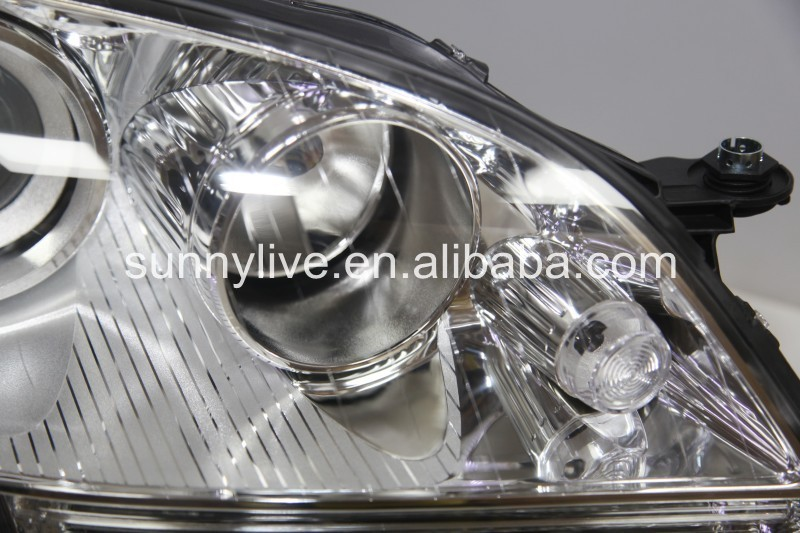 For Mercedes-Benz W164 ML280 ML320 ML350 LED Head Light 2005-2008 Year Chrome Housing