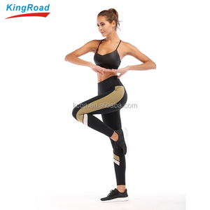 In Stock Custom Private Label Mesh Fitness Wear Sexy Sports Yoga Bra And Leggings Sets Women