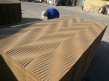 Wall decoration 3D wave mdf board/3d wall panel