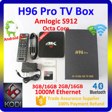2017 best selling products H96 Pro amlogic s912 android 7.0 3G 32G Blutooth 4.0 smart tv android ott box