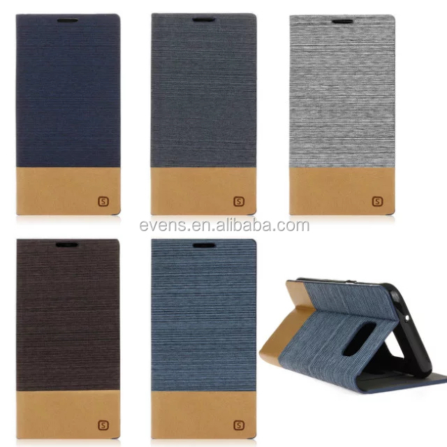 For samsung galaxy S5 Case Business Ultra thin Jeans Canvas + PU Leather Flip Cover For samsung S5 Shell With Card Holder